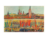 Demonstration on the First of May across the River from the Kremlin, 1978 Giclee Print by Natalia Aleksandrovna Gippius