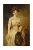 Portrait of a Lady in a White Dress, 1909 Giclee Print by George Elgar Hicks
