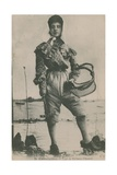 Postcard of an Oyster Fisher, Sent in 1913 Giclee Print by  French Photographer