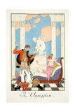 Aggression, from 'Falbalas and Fanfreluches, Almanach des Modes Présentes, Passées et Futures',… Giclee Print by Georges Barbier