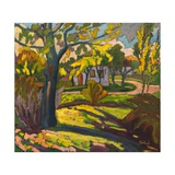 4222 Autumn in Our Street, 2010 Giclee Print by Marta Martonfi-Benke