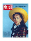 Leslie Caron in the Role of 'Gigi', Cover of Paris-Match Magazine, 1 November, 1958 Giclee Print by  American Photographer