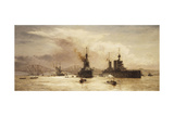 The First Battle Squadron Leaving the Forth for the Battle of Jutland, 1917 Lámina giclée por William Lionel Wyllie