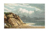 Beach and Cliffs Giclee Print by  English School