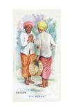 Customary Greeting in Ceylon, 1907 Giclee Print by  English School