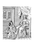 A Seventeenth-Century Shoemaker Fitting a Distinguished Customer, Illustration from 'Book of… Giclee Print by  English School