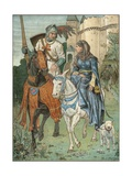Una and the Red Cross Knight Giclee Print by Walter Jenks Morgan