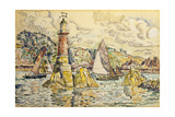 La Phare a Lezardrieux, 1927 Giclee Print by Paul Signac