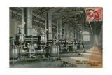 Interior of a Factory, Geneva. Postcard Sent in 1913 Giclee Print by  Swiss photographer