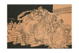 Dido on the Funeral Pile Giclee Print by Bartolomeo Pinelli