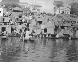 Hindus Bathing and Sun Worshipping, Lucknow, January 1912 Photographic Print by  English Photographer