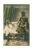 Othello with Desdemona. Scene from William Shakespeare's Tragic Play Written Circa 1603. Postcard… Giclee Print by  French Photographer