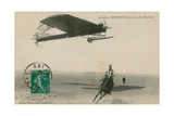 Postcard of an Antoinette Aeroplane Flown by M. Demanest, Sent in 1913 Giclee Print by French Photographer
