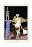 Evening, from 'Falbalas and Fanfreluches, Almanach des Modes Présentes, Passées et Futures', 1926 Giclee Print by Georges Barbier