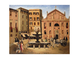Square in Rome, 1925 Giclee Print by Christopher Wood