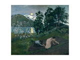 Spring Night in the Garden, 1909 Giclee Print by Nikolai Astrup