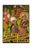 Poster Advertising Fête des Costumes Suisse in Geneva (1931) Giclee Print by Jules Courvoisier