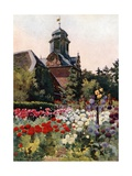 The Clock Tower, Wolfsgarten Giclee Print by Mima Nixon