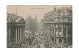 Mansion House, London. Postcard Sent in 1913 Giclee Print by  English Photographer
