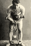 Portrait of Harry Houdini in Chains. c.1900 Photographic Print by  American School