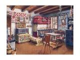 Austro-Hungarian Peasant Furniture Giclee Print by Edwin John Foley