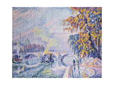 Pont Royal, Autumn; Pont Royal, Automne, 1930 Giclee Print by Paul Signac