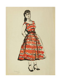 Dress Sketch, 1955 Giclee Print by Nina Ivanovna Shirokova