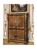 Upright Secretaire in Parqueterie of Various Woods, with Ormolu-Mounted Rosettes, Etc Giclee Print by Edwin John Foley