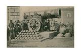 The Czar Cannon, the Kremlin, Moscow. Postcard Sent in 1913 Giclée-tryk af Russian Photographer