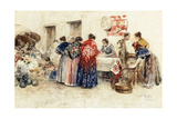 In the Market, 1900 Giclee Print by Roda G. Puig