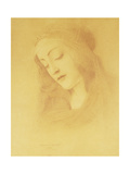The Virgin after Botticelli; La Vierge d'Apres Botticelli, 1909 Giclee Print by Fernand Khnopff