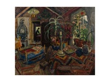 Interior with a Cradle, c.1925 Giclee Print by Nikolai Astrup