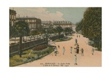 Public Garden in Bordeaux, France. Postcard Sent in 1913 Reproduction procédé giclée par  French Photographer