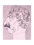 Phrenological Chart of the German Brain, Published in 'Life' Magazine, 1917 Giclee Print by Oliver Herford