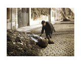 Rag-Picker Searching for Usable Items from a Pile, Reims, Marne, France, 1917 Giclee Print by Fernand Cuville