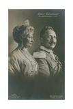 Kaiser Wilhelm II and Empress Augusta Victoria of Germany in their Silver Jubilee Year, 1913.… Giclee Print by  German photographer