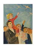 At the Air Show, 1948 Giclee Print by Natalia Aleksandrovna Gippius