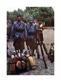 Riflemen from Algeria in a Camp During the Battle of the Marne East of Paris, September 1914 Giclee Print by Jules Gervais-Courtellemont