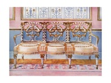 White Gilt and Painted Settee - Pergolesi Influence Giclee Print by Edwin John Foley