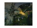Midsummer Fire, 1911 Giclee Print by Nikolai Astrup