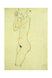 Standing Nude; Stehender Akt, 1913 Giclee Print by Egon Schiele