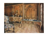 Panelled Room: French - Style of the Regence. Carved Oak Chair. Ormolu-Mounted Mahogany… Giclee Print by Edwin John Foley