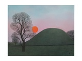 An Evening Walk at Brinklow, 2006 Giclee Print by Ann Brain