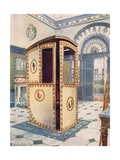 Painted and Lacquered Sedan Chair with Domed Top Giclee Print by Edwin John Foley