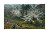 Blossoming Apple Tree, Strømsbo Farm, c.1912 Giclee Print by Nikolai Astrup