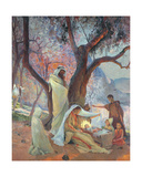 Nativity, 1917 Giclee Print by Frederic Montenard