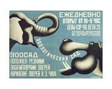 Poster for Leningrad Zoo, 1927 Giclee Print by Dmitri Anatolyevich Bulanov