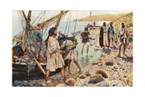 The Calling of Four Disciples Giclee Print by Corwin Knapp Linson