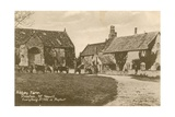 Abbey Farm in Preston Near Yeovil. Postcard Sent in 1913 Giclee Print by  English Photographer