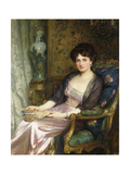 Portrait of a Lady Said to Be the Artist's Wife, 1911 Giclee Print by Frank Bernard Dicksee